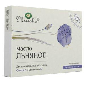Льняное масло капс. №100 Мирролла