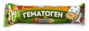 Гематоген Форте с лесным орехом 40г