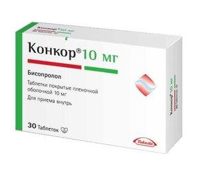 Конкор таб. п/о 10мг №30