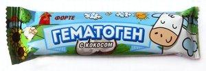 Гематоген Форте с кокосом 40г