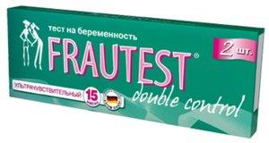 Тест на беременность Фраутест Двойной контроль №2