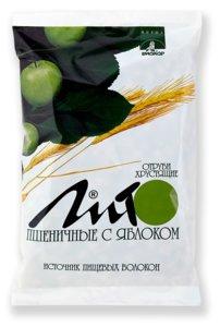 Отруби Лито хрустящие пшеничные с Ca 200г (яблоко)