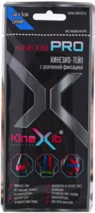 Бинт-пластырь Кинезио-Тейп KINEXIB PRO (1м х5см) с усил фикс синий
