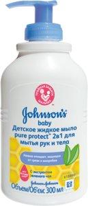 Джонсон беби Мыло жидкое Пуре Протект антибактериальное 300мл