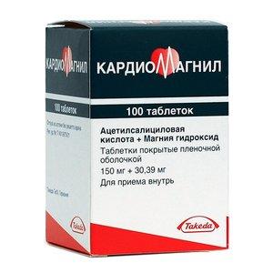 Кардиомагнил таб. п/о 150мг+30.39мг №100