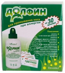 Долфин устройство д/промывания носа д/взрослых 240мл+ср-во при аллергии 2г №30