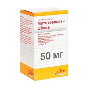 Метотрексат-Эбеве р-р д/ин. 10мг/мл фл. 5мл №1
