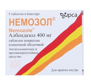 Немозол таб. п/о 400мг №5