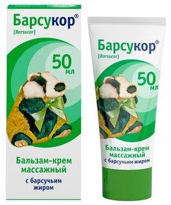 Барсукор бальзам-крем массажный д/детей с барсучьим жиром 50мл