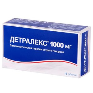 Детралекс таб. п/о 1000мг №18