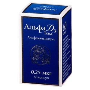 Альфа Д3-Тева капс. 0.25мкг №60