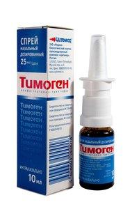 Тимоген спрей наз. 0.025% 10мл