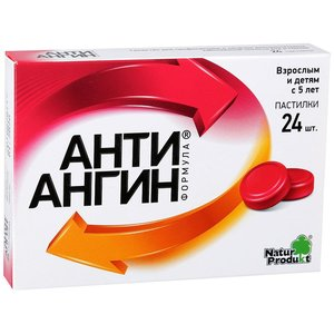 Анти-ангин формула пастилки д/рассас. №24