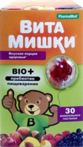 ВитаМишки Био+пребиотик пастилки жеват. №30
