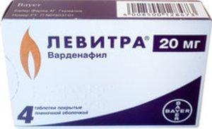 Левитра таб. п/о 20мг №4