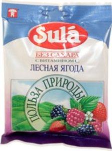 Леденцы Зула б/сахара Лесная ягода 60г