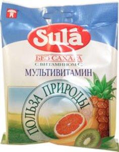 Леденцы Зула б/сахара Мультивитамин 60г