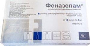 Феназепам р-р в/в в/м 0.1% 1мл №10