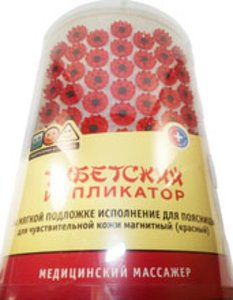 Иппликатор Кузнецова Тибетский Красный магнит. валик д/поясницы 30ссмх18смх5см (59 элементов)