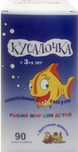 Рыбий жир Кусалочка д/детей капс. 500мг №90