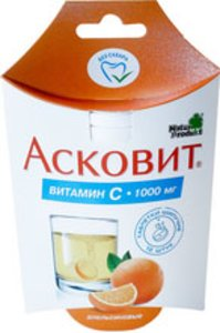 Асковит таб. шип. апельсин 1г №10