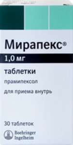 Мирапекс таб. 1мг №30