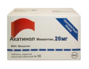 Акатинол Мемантин таб. п/о 20мг №56