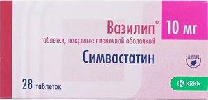 Вазилип таб. п/о 10мг №28