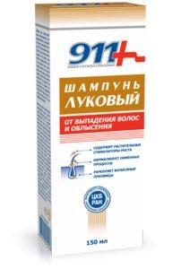 911 Шампунь луковый с крапивой от выпадения волос/облысения 150мл