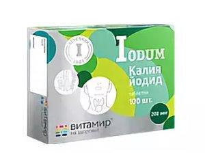 Витамир Калия йодид таб. 200мг №100