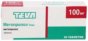 Метопролол-Ратиофарм таб. 100мг №30