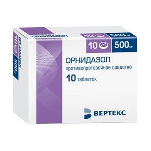 Орнидазол таб. п/п/о 500мг №10