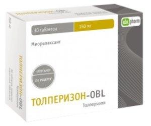 Толперизон-OBL таб. п/о 150мг №30