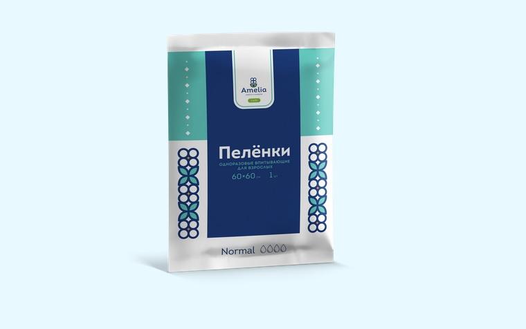 Амелия Пеленки одноразовые д/взросл. 60х60 №1