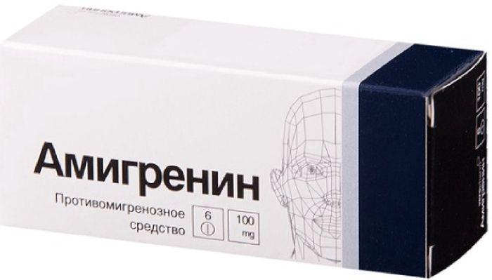 Амигренин таб. п/о 100мг №6