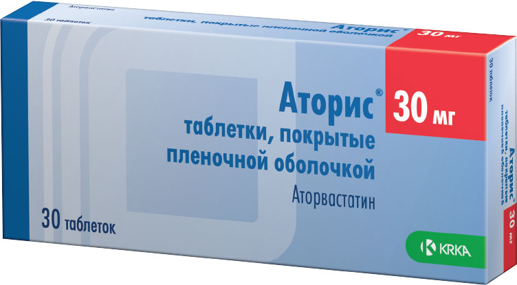 Аторис таб. п/о 30мг №30