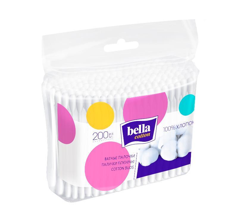 Белла ватные палочки №200 (пакет)