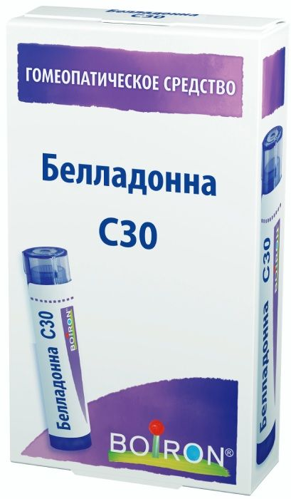 Белладонна С30 гранулы гомеопатич. 4г
