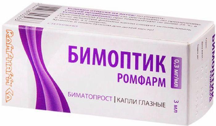 Бимоптик Ромфарм капли гл. 0,3мг/мл 3мл