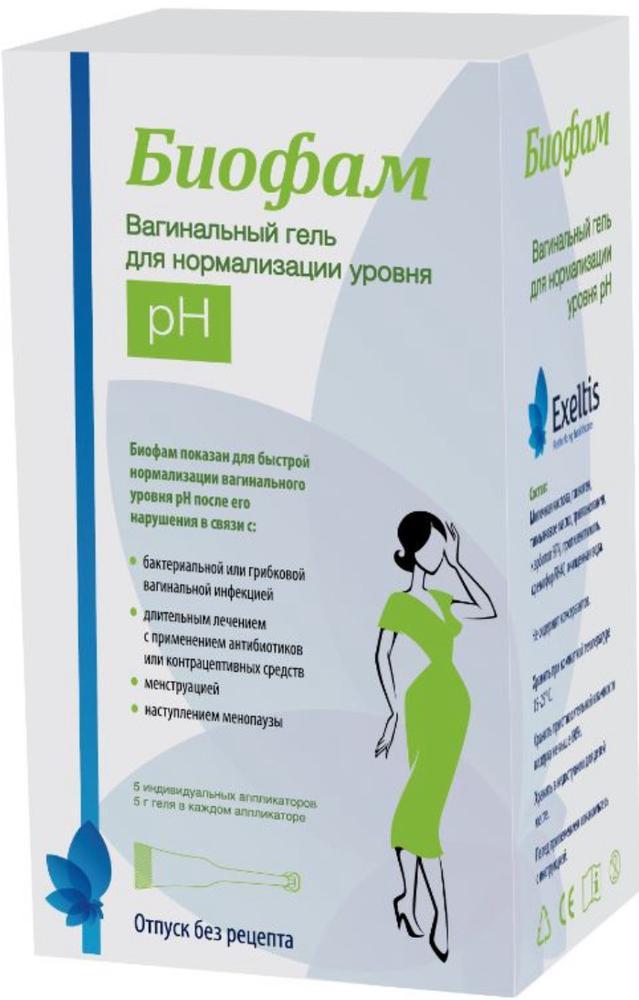 Биофам гель вагин. д/нормализации рН аппликаторы 5г №5
