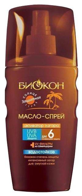 Биокон Солнце Масло-спрей активатор загара спф6 160мл