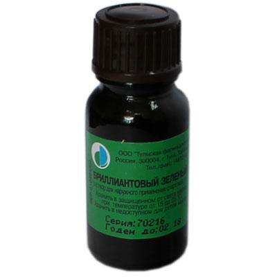 Бриллиантовый зеленый 1% 10мл (помазок)