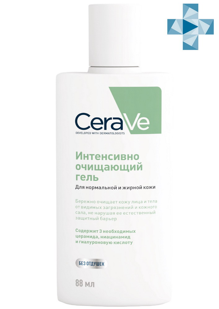 Цераве Гель очищающий д/норм/жирной кожи лица/тела 88мл