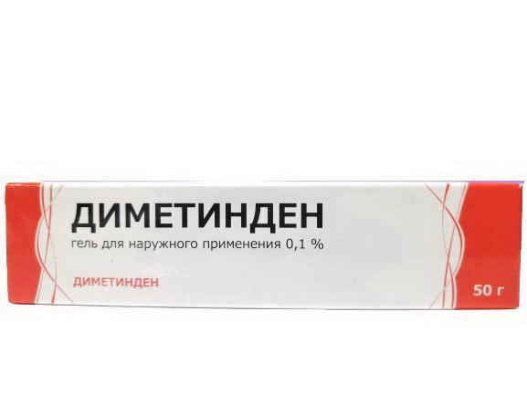 Диметинден гель 0.1% 50г