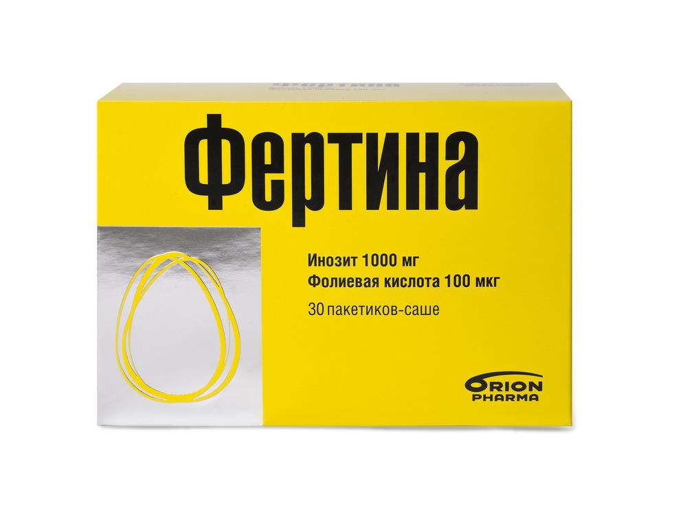 Фертина инозит 1000мг Фолиевая кислота 100мкг пакетики-саше 3г №30
