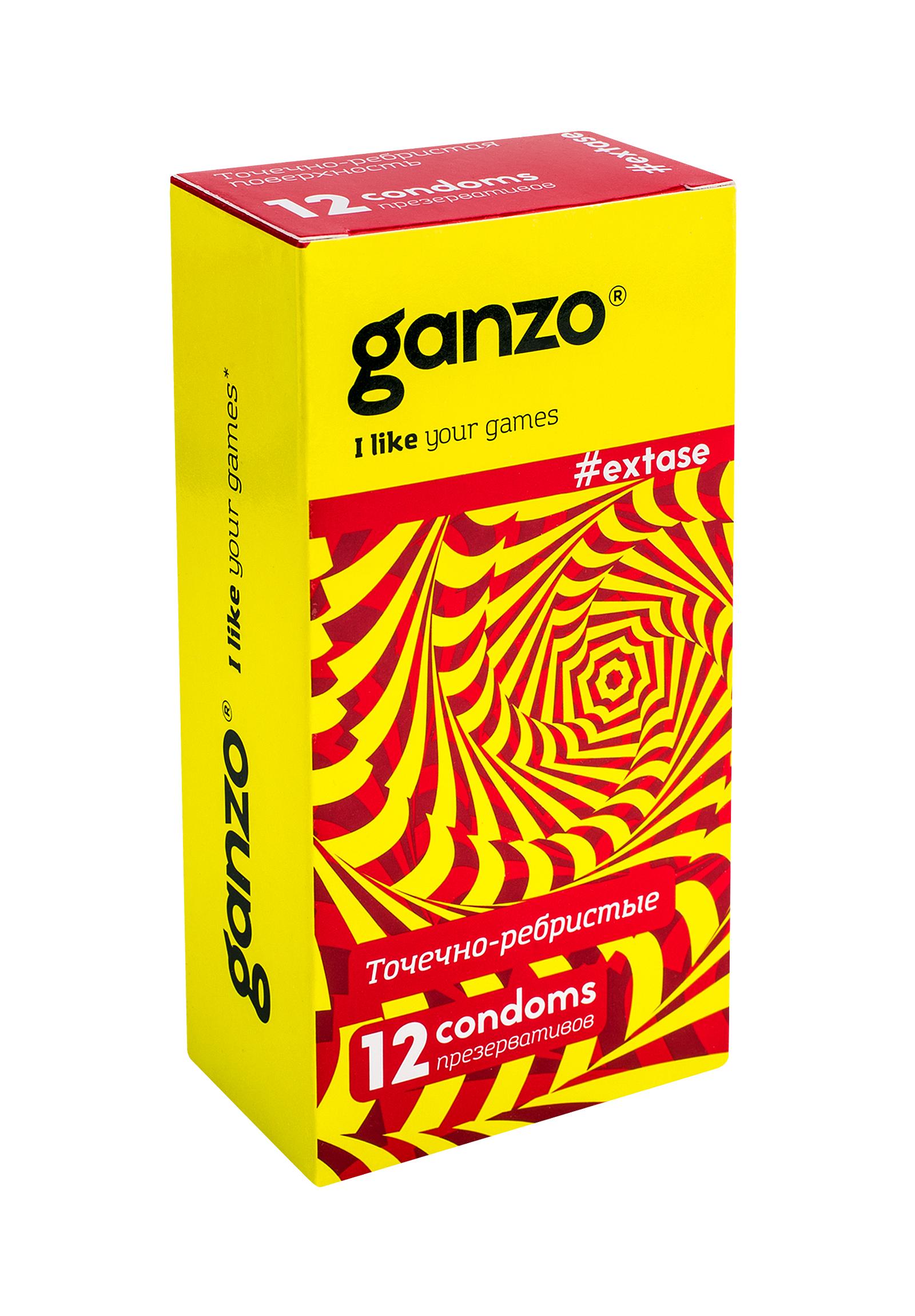 Ганзо презервативы №12 экстаз