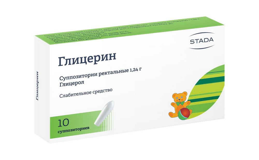 Глицерин супп. рект. 1.24г №10