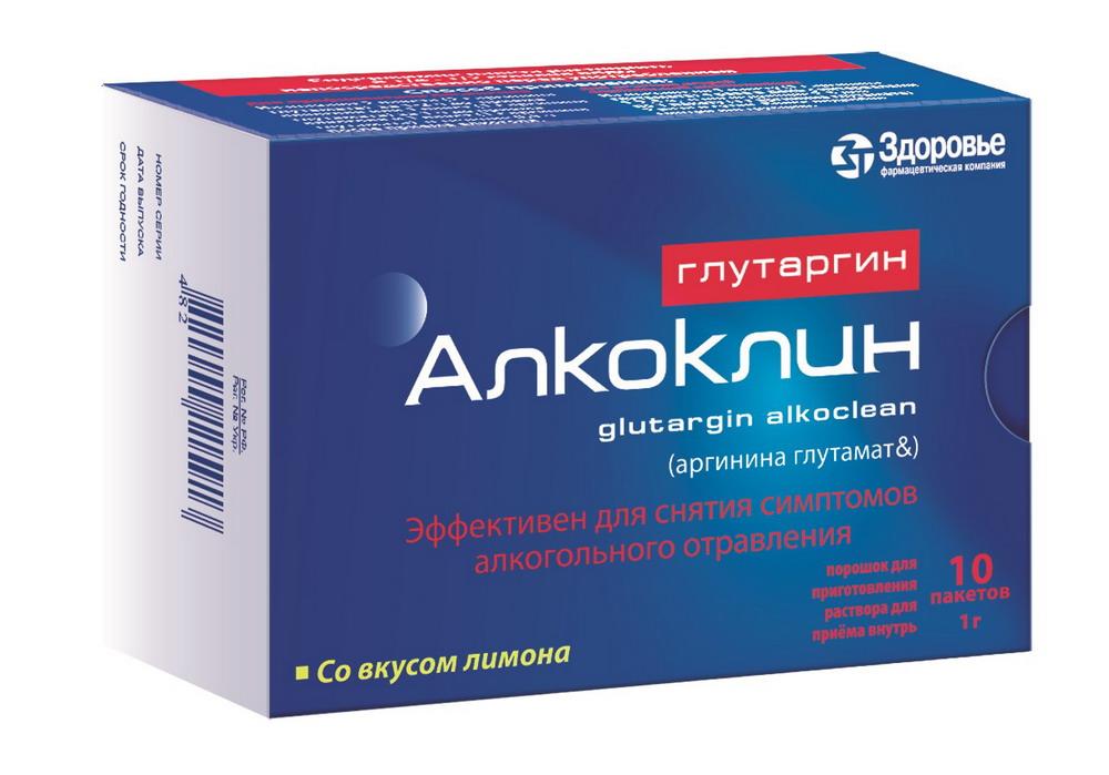 Глутаргин Алкоклин пор. 1г/3г №10