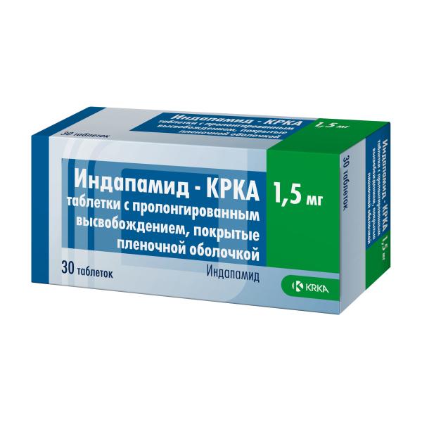 Индапамид-КРКА таб. п/о пролонг 1.5мг №30