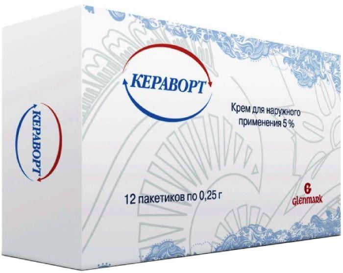 Кераворт крем д/нар. прим. 5% пак.0.25г №12